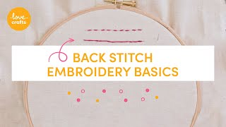 Embroidery Basics - Back stitch