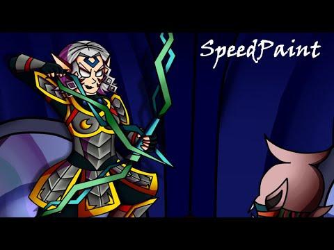 SpeedPaint ~ Fierce Deity Zelda VS Majora's Wrath (Art Commission For The Regressor)