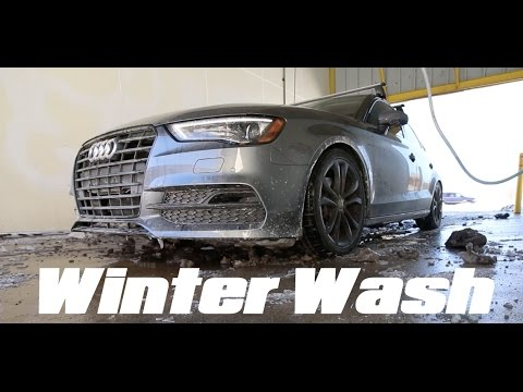 How I wash my car during the winter! | 2015 Audi A3