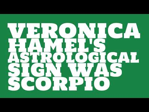 What was Veronica Hamel's astrological sign?