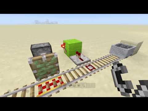 Minecraft Trampas,cofre Oculto Y Estacion De Vagoneta