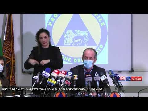 NUOVO DPCM. ZAIA: «RESTRIZIONI SOLO SU BASI SCIENTIFICHE»   24/02/2021