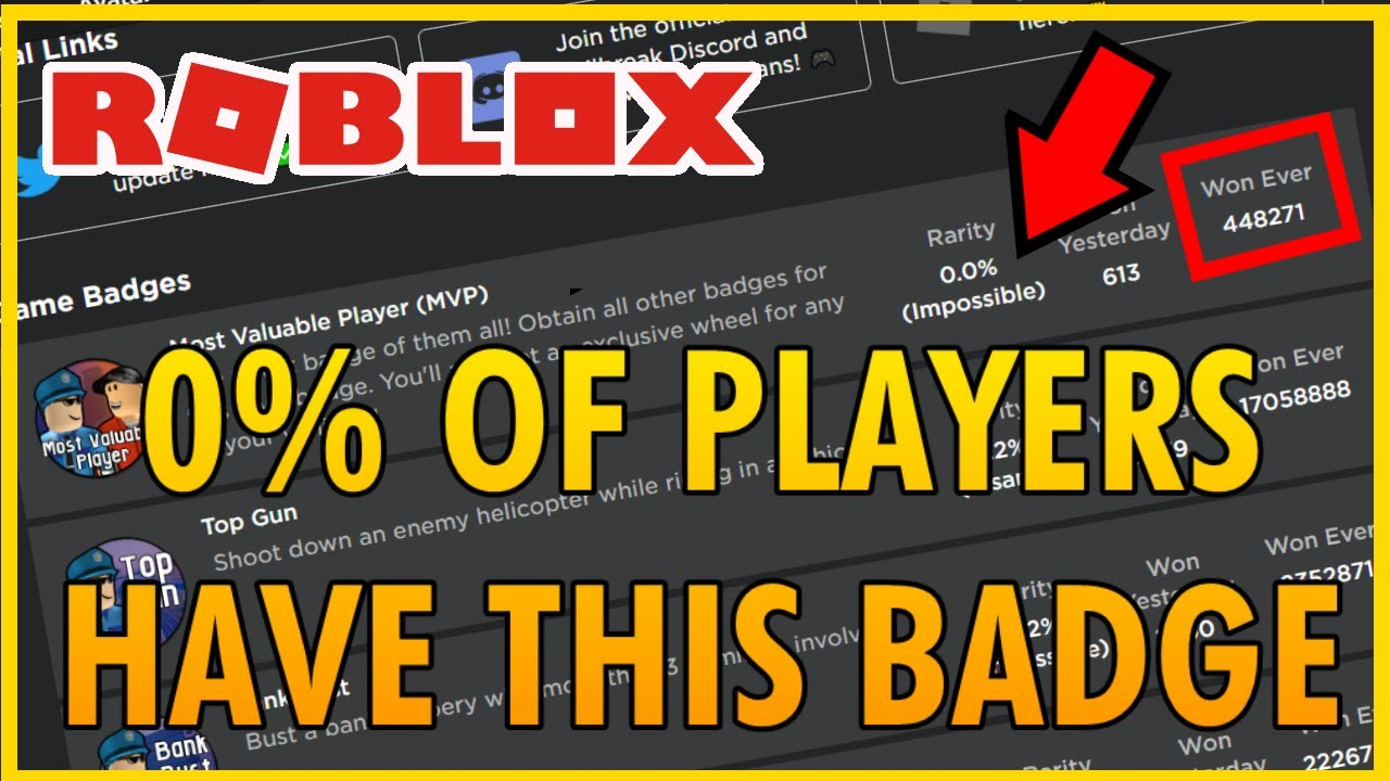 Why 0 Of Jailbreak Players Have This Badge The Hardest Badge On