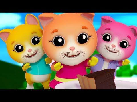 Tre piccoli gattini | filastrocche per bambini | gattino rima in italiano | Three Little Kittens