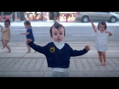 Funny Baby Dance the new evian film (with lyrics on description)