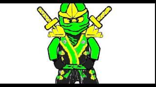 mi dibujo del ninja verde :3