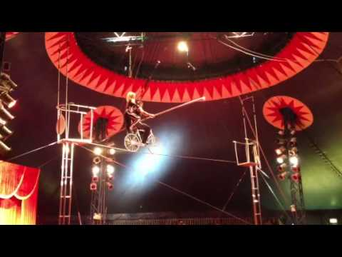 High wire circus act