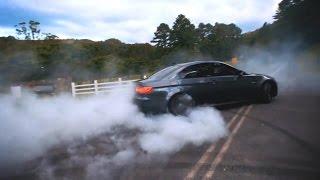 BMW M3 E92 w/ Armytrix Exhaust - Massive Burnout, Drift and Insane Noise!
