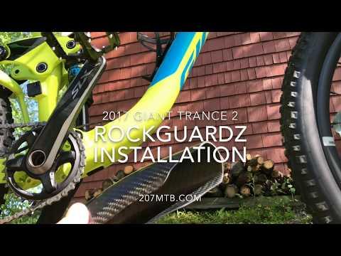 RockGuardz Installation - Carbon Fiber MTB Frame Guard Install