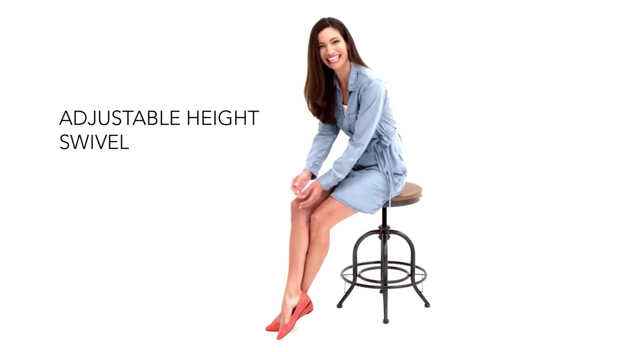 Pinnadel Sawivel Counter Stool Set Of 2 From Ashley Youtube