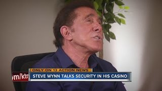 Steve Wynn talks security measures at his Las Vegas casinos