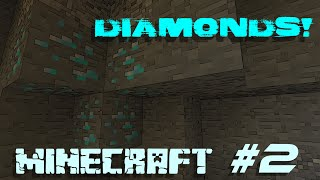 Diamonds! | Minecraft Vanilla 1.8 Survival Ep. 2