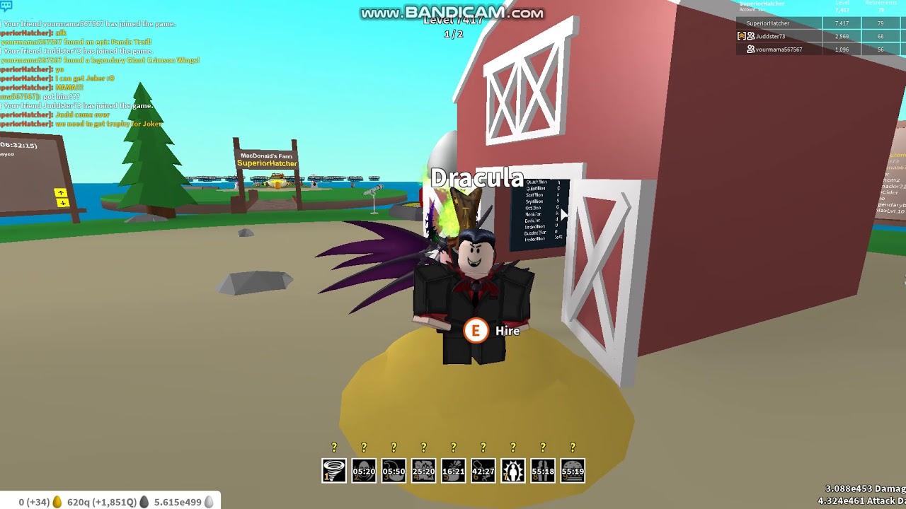 Youtube Roblox Egg Farm Simulator - Joker In Egg Farm Simulator Unlocking Level 7400