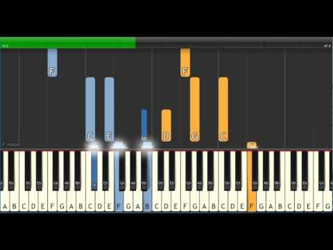 Etta James  - At Last [Synthesia Tutorial] - Valentine's Day Special