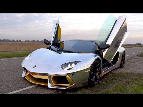 ONBOARD RIDE IN THIS CRAZY CHROME LAMBORGHINI AVENTADOR!
