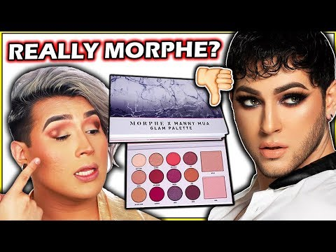 UNBIASED MORPHE x MANNYMUA Review... WORST PALETTE OF 2019! (Disappointing) thumbnail
