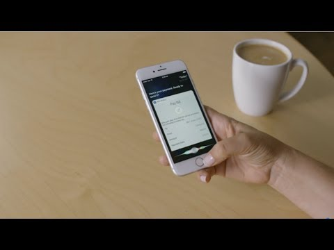 Demonstration of an RBC client paying a bill using Siri on iPhone