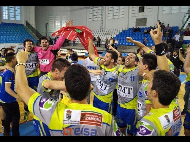 Celebración ascenso MMT Seguros Liga Asobal 2014