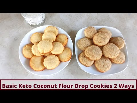 Basic Keto Coconut Flour Cookies Made 2 Ways (Gluten Free)