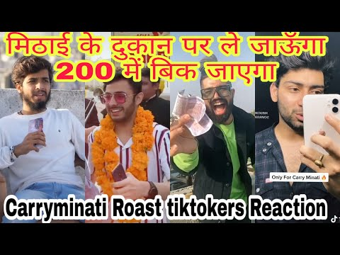 YouTube vs tiktok 👊1  carryminati roast 🤭🧐  tik tok video   new funny tik tok videos   viral videos