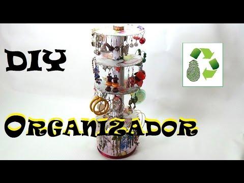 538e94cfa7f2 DIY Organizador de Pendientes o Aretes (Reciclaje) Ecobrisa. - YouTube