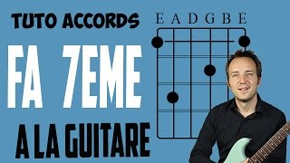 Accord Fa Septième à la guitare - F7 - Fa7