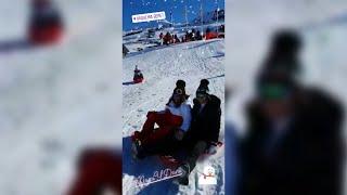 Paula Echevarria disfruta de la nieve junto con su hija y su pareja