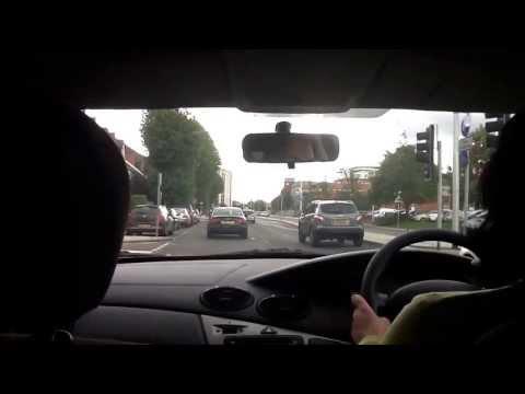 Driving through Reading, Berkshire part 1.