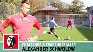 """""""Wenn das der TW-Trainer sieht...""""   5-Ball-Challenge vs. Alexander Schwolow   SC Freiburg   Kickbox"""
