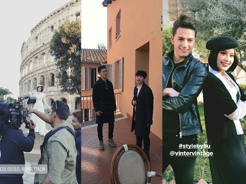 Janna Nick Alvin Chong di Italy untuk shoot MV Ost Coffee Prince ☕👑 Day1