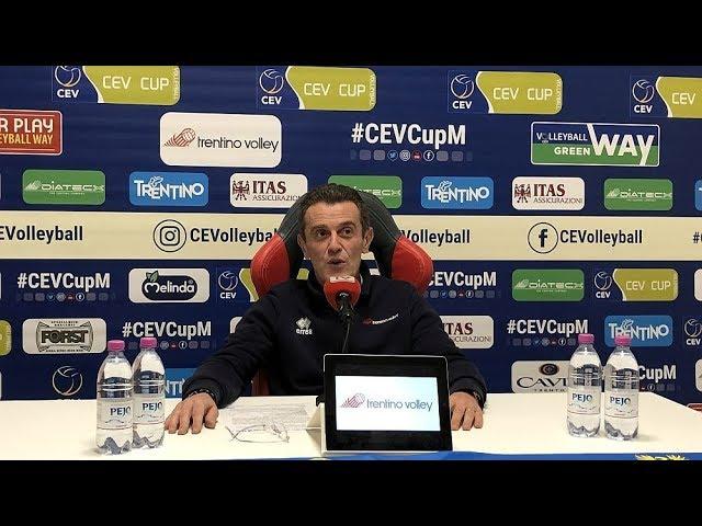 La conferenza stampa di Lorenzetti in vista del derby dell'A22 e della Finale di 2019 CEV Cup
