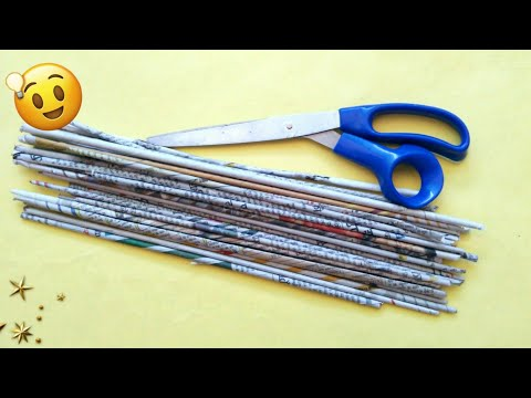 Best out of waste craft ideas   Newspaper craft ideas   best use of old newspaper   #HMA411