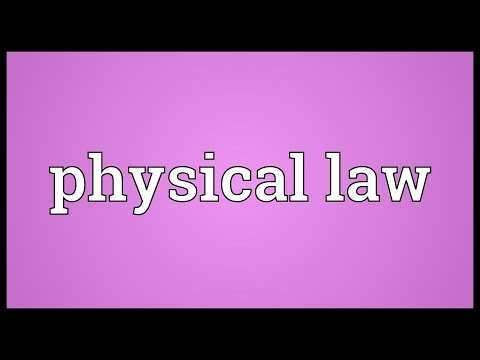 physical law | physical laws invented or discovered