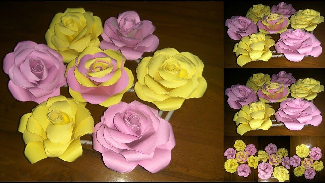 Ide Kreatif Membuat Bunga Mawar Dengan Kertas Karton Creative Craft Youtube