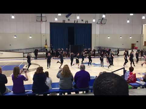 Bryant high school purple team dance