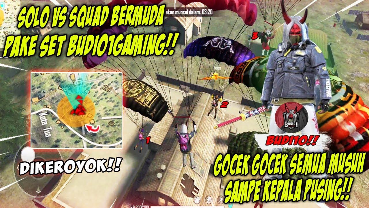 SOLO VS SQUAD PAKE SETNYA BUDI01 GAMING BARU LANGSUNG DIKEROYOKIN 5 SQUAD DI PEAK!! Free Fire