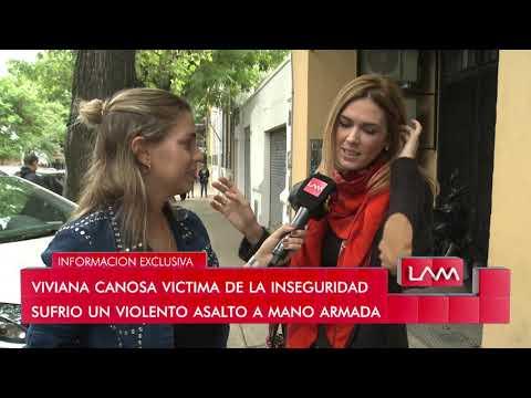 Viviana Canosa fue victima de la inseguridad y sufri� un violento asalto