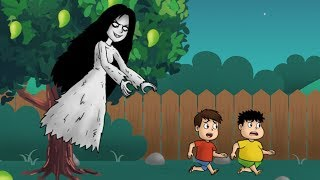 kartun horor lucu - Kuntilanak Penunggu Pohon Mangga