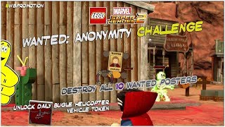 Lego Marvel Superheroes 2: Wanted Anonymity Challenge - HTG