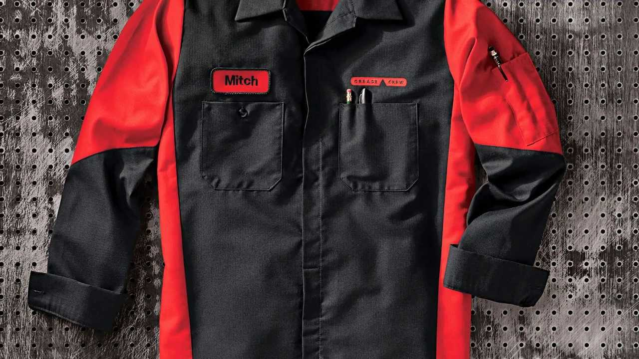 All uniform wear miami red kap automotive crew shirt for Red kap mechanic shirts