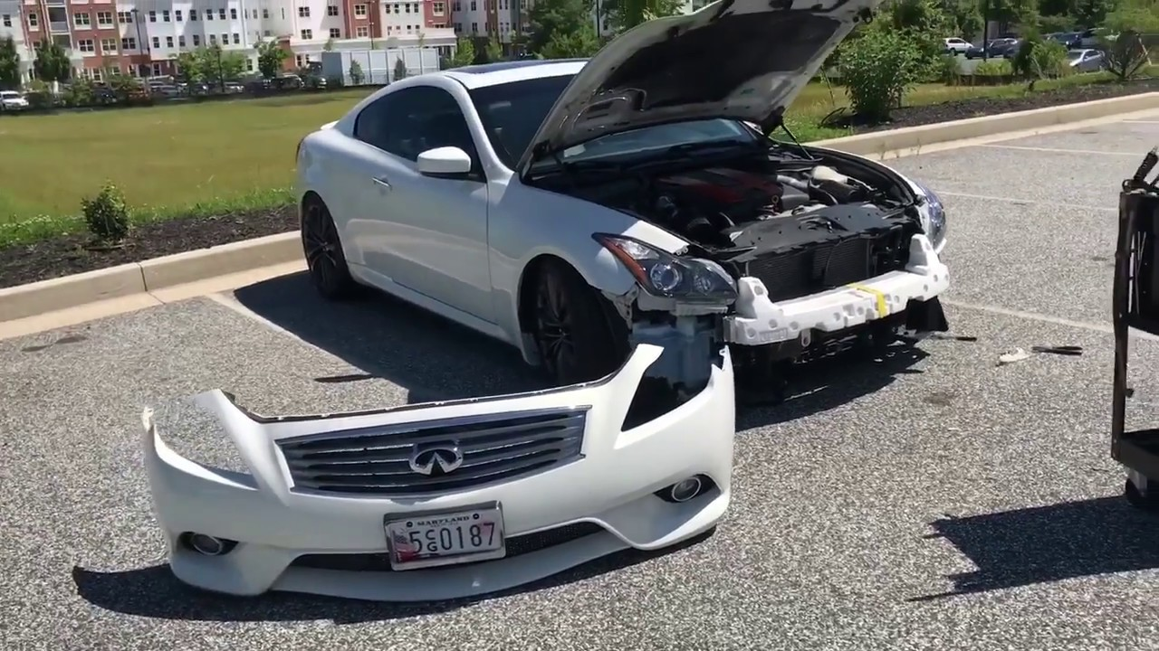 Infiniti G37 front bumper removal
