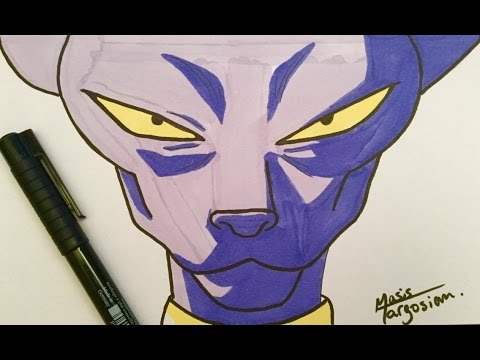 Comment dessiner beerus tuto pour d butant youtube - Dessin dragon ball z facile ...