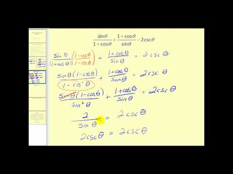 Verifying Trigonometric Identities:  The Fundamental Identities