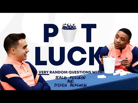 What would you say to a shark? 🤔🦈 VERY random questions with Sergio Reguilon and Steven Bergwijn