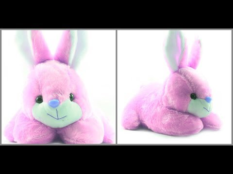 how to make soft stuffed rabbit toys + teddy bear at home