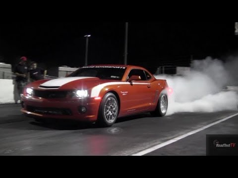 900 HP Twin Turbo LS7 Camaro - Redline Motorsports 14 PSI Boost Drag Pass Shake Down  - Road Test TV
