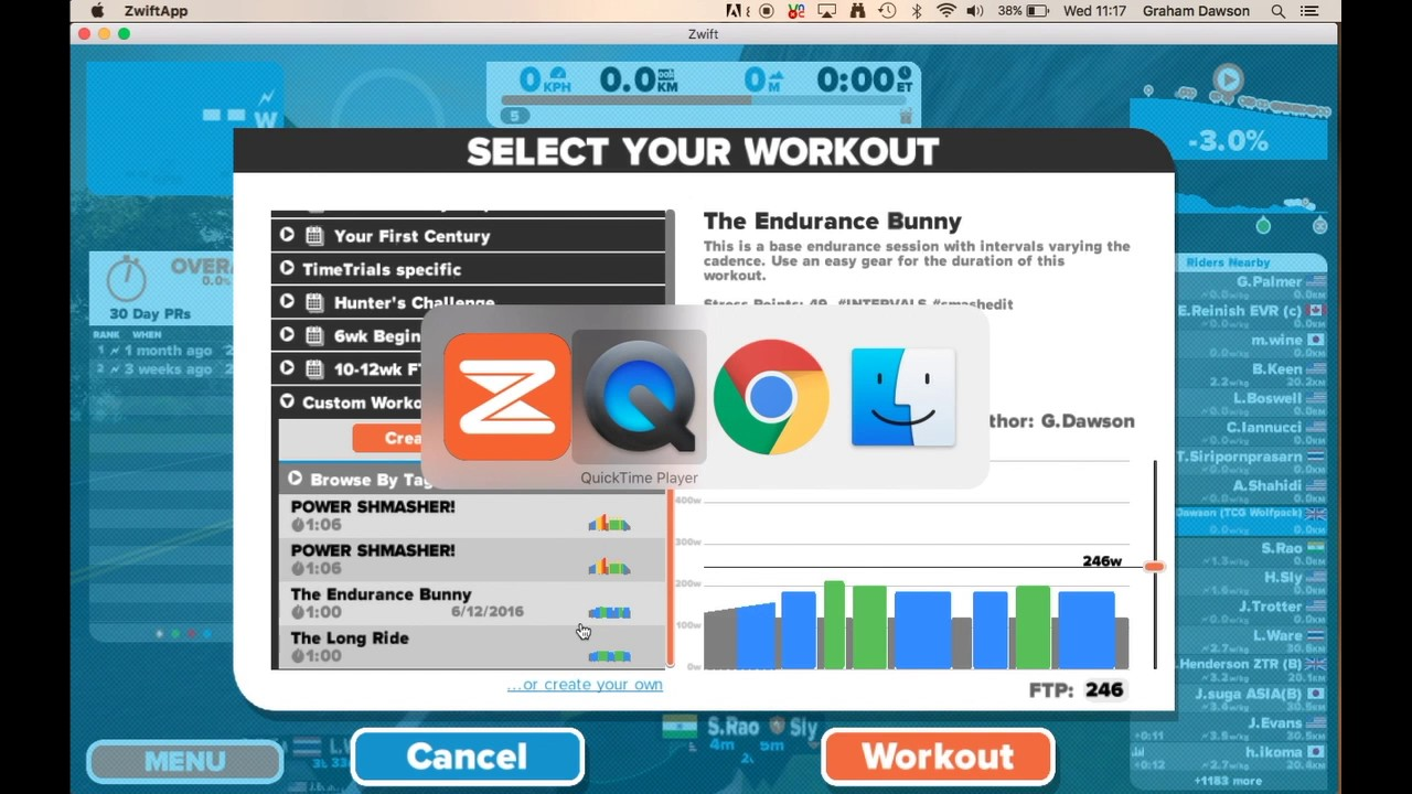 How to upload a workout to Zwift