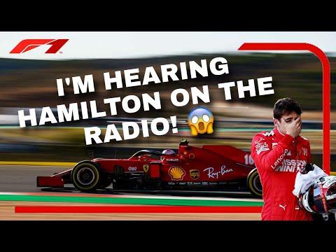 "Leclerc hears Hamilton on 𝗛𝗜𝗦 team radio?! 😂 ""WHAT'S HAPPENING?!""  |  2020 Portugese GP"