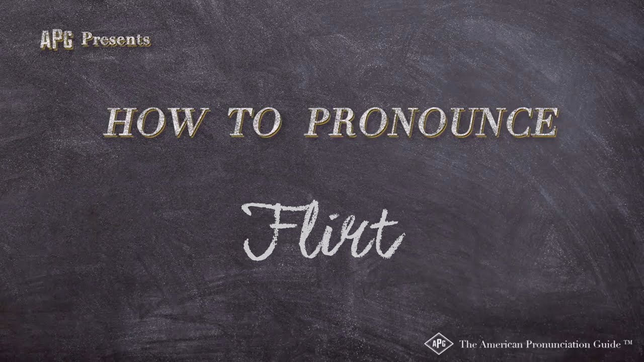 flirter pronunciation