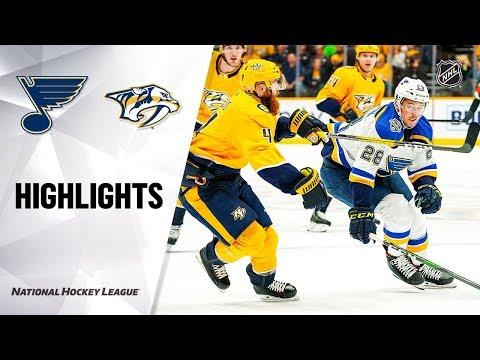 NHL Highlights | Blues @ Predators 11/25/19